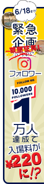 Instagramフォロワー1万人達成企画