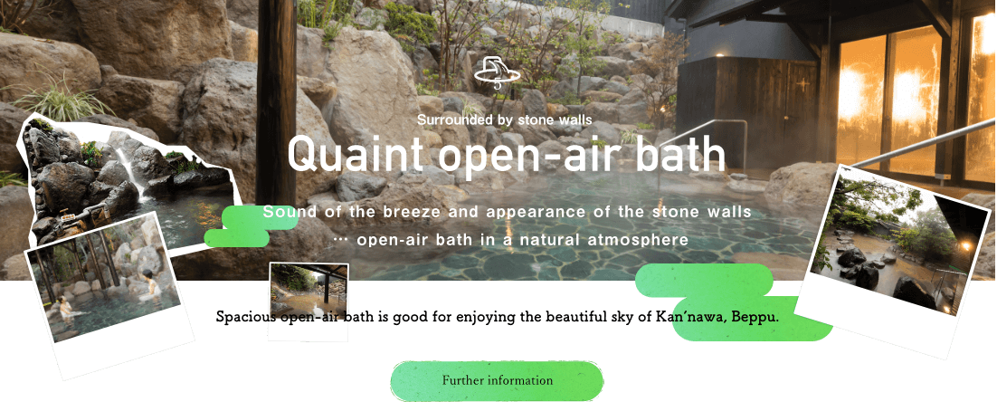 Quaint open-air bath